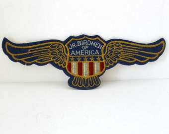 Rare Jr Birdmen of America Patch, Vintage Aviation 1930s Model Plane Building, Wing Shield