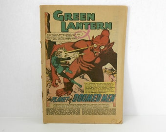Green Lantern No 1 Comic, First #1, 1960, No Cover, Vintage Super Hero Fantasy
