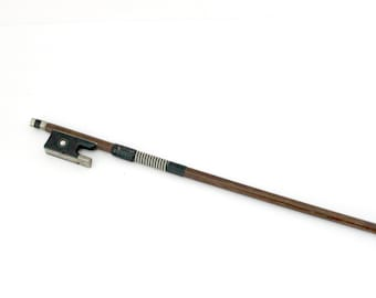 Antique Adolf Berger Violin Bow 8 Sided Shaft Germany 3/4 27""