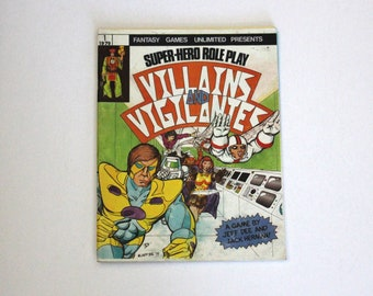 Vintage Villains and Vigilantes RPG Role Playing Game Super Hero Fantasy 1979