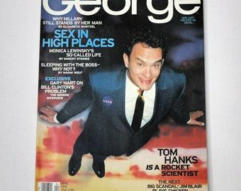 Vintage George April 1998 Magazine, Politics, Tom Hanks, Monica Lewinsky,Hillary Clinton
