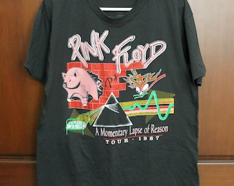 Vintage Pink Floyd A Momentary Lapse of Reason 1987 Tour Shirt, Rock Music Concert T