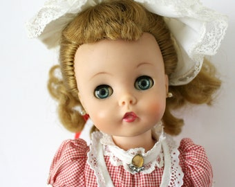 "Vintage Madame Alexander Marybell Doll, 15"" 1950s 60s Kelly Face, MMe, Soft Vinyl Head, Sleep Eyes"