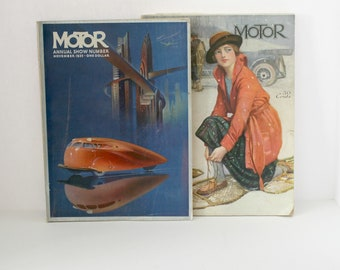 Lot 2 Motor Magazines, February 1920, November 1935, Vintage Car, Auto,