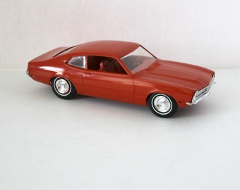 1970 Ford Maverick Vintage Jo-Han Red Model Car Dealer Promo JoHan