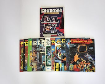 1980s Lot Paranoia RPG Gamemaster Screen and Role Playing Game Books Adventures