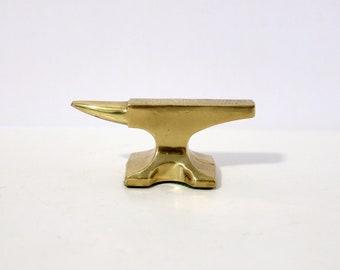 Vintage Pittsburgh Pipe Advertising Mini Anvil Steel Pennsylvania, Paperweight, 1950s Brass