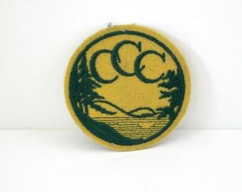 Vintage 1930s Civilian Conservation Corp Patch CCC, Great Depression Work Relief Program Patch