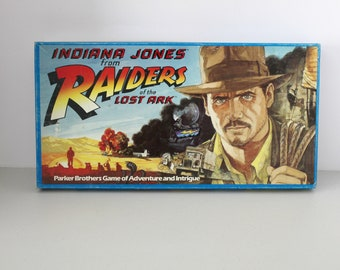 Vintage Indiana Jones from Raiders of The Lost Ark Board Game by Parker Brothers 1982