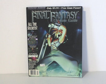 1997 Final Fantasy VII Ultimate Guide Versus Books Volume 2, No Poster Included