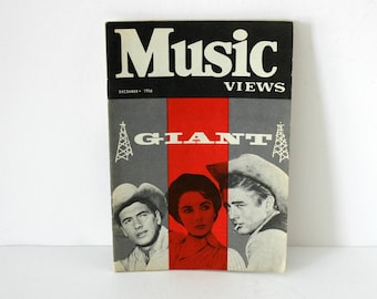 Music Views Magazine December 1956 Giant James Dean