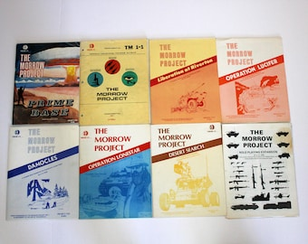 Lot The Morrow Project RPG Role Playing Game Books by Timeline Vintage 1980s