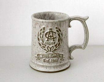 Vintage Budweiser Beer Police Chief Academy Conference Stein Mug St. Louis 1980