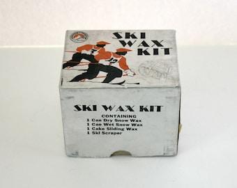 Vintage Anderson Thompson Ski Wax Kit in Box, Art Deco 1940s