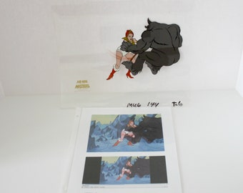 1980s He-Man Animation Cell Season 1 Teela's Quest Masters of Universe He Man TV Show