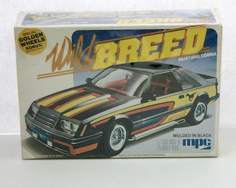 Wild Breed Mustang Cobra Ford 1981 Vintage Sealed Model Kit MPC 1-0816 1/25 Scale