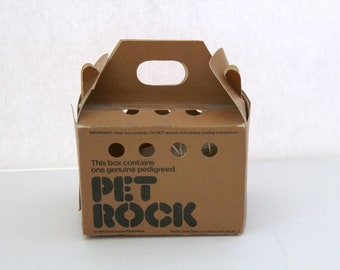 1975 Pet Rock in Box with Care and Training Manual