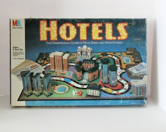 1987 Hotels Board Game Milton Bradley, Complete, Unpunched, High Rise Real Estate, Family Game Night