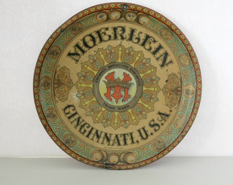 Antique Moerlein Beer Tray, Vintage Advertising, Brewery, Metal Tray