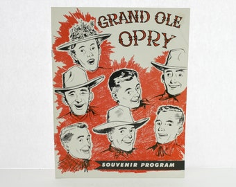1955 Grand Ole Opry Souvenir Program, Includes Elvis Presley, Vintage Music, Musicians, Singers