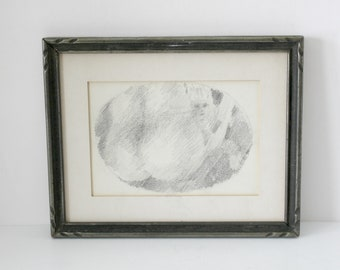 Vintage John Fassbinder Original Pencil Drawing Falling Girl 1970 Art Wall Hanging