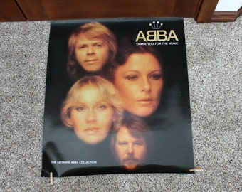 Vintage Abba Poster, The Ultimate Abba Collection, Thank You For The Music, 1980s