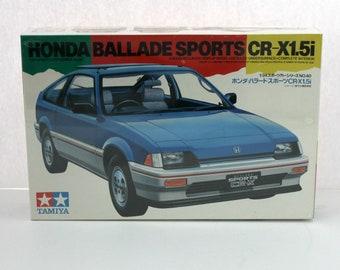 Sealed 1983 Honda Ballade Sports CR-X1.5i CR-X Model Kit Tamiya 2440 1/25 3 Versions Rare