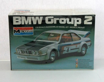 Vintage BMW Group 2 635 Csi Sealed Model Kit 2287 Monogram 1981 1/24 Scale