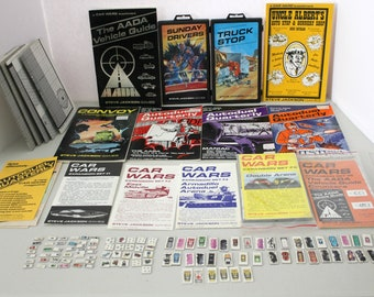 Car Wars RPG Lot, Supplements, Expansion Sets, Books, Autoduel, Maps, Tokens, Game Pieces, Truck Stop, Sunday Drivers