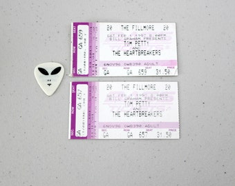 2 Vintage Tom Petty and The Heartbreakers 1997 Concert Ticket Stubs plus M.C. Mike Campbell Guitar Pick