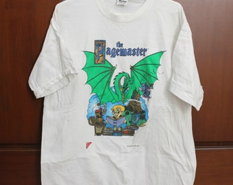 1994 The Pagemaster Original Movie T Shirt with Nabisco Logo