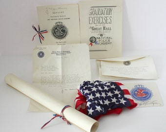 1940 FBI National Police Academy Graduation Diploma, Program, Banquet, Invitation, J Edgar Hoover Signatures