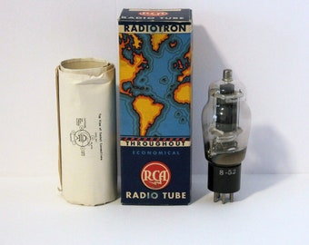Vintage RCA Radiotron 807 Radio Tube in Original Box, 1940s Electronics