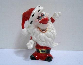 Vintage Kreiss & Co. Santa Claus Psycho Ceramic Christmas Figurine