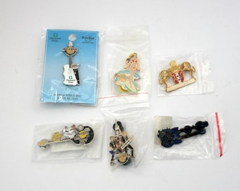 Hard Rock Cafe Pin Lot of 6, Bangkok Halloween 2004, Moscow, Maui, Amsterdam, Madrid Double Guitar, Cleveland World Voice Day 2013
