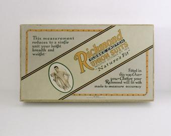 Antique Richmond Closed Crotch Union Suits Box Only Atlas Underwear 1915