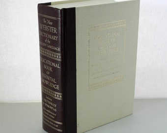 Vintage Educational Book of Essential Knowledge 1966 Webster Encyclopedic Dictionary