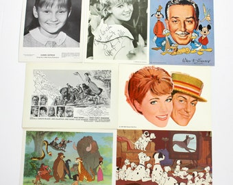 Vintage Walt Disney Fan Club Postcards 1960s | Karen Dotrice | Haley Mills | Jungle Book | Dalmations | Mary Poppins and More