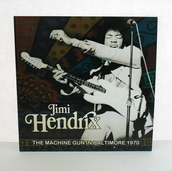 "Jimi Hendrix The Machine Gun in Baltimore 1970 Live 7/25 Limited Edition 10"" Record Album"