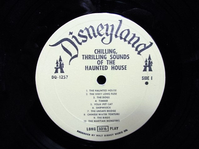 2 Vintage Disney Halloween Records, Haunted House Chilling Sounds