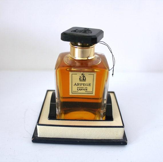 Vintage Lanvin Arpège Perfume Bottle in Box Paris France Extrait 28 gr. 1 oz