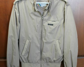 Members Only Jacket, Vintage 1980s Mens Sz 42 Coat, 80s Beige Putty Casual Jacket
