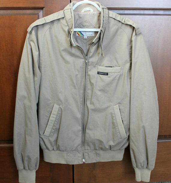 Vintage Members Only Jacket, 80s Mens Sz 42 Coat, 1980s Beige Putty Casual Jacket
