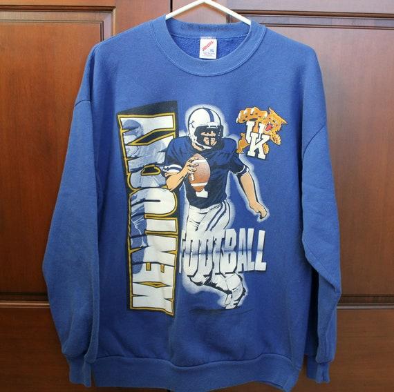 Vintage University of Kentucky Football Sweatshirt | 1980s U of Kentucky Wildcats | Jerzees Sz XL