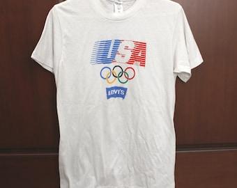 1980 Olympics USA Levi's T Shirt, Lake Placid