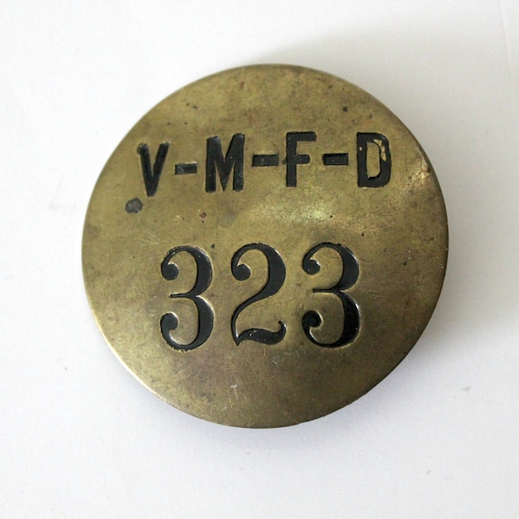 Vintage Village of Mamaroneck Fire Department Badge, New York VMFD Pin 1920s 30s