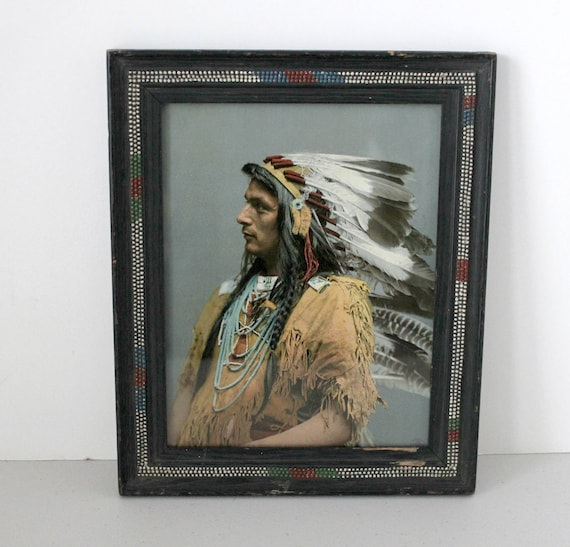 Antique 1903 Chief Pau Puk Keewis Photo, Iroquois, Ojibwas, Detroit Photographic Publishing Co