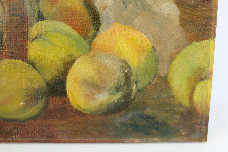 Original Still Life Fruit Oil Painting | 1930s Cottage Chic Vintage ...