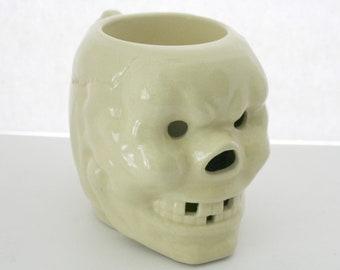 Trader Vic's Skull Mug | Vintage Early 1960s Ceramic | Scary Halloween
