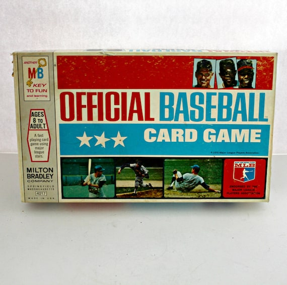 Vintage Official Baseball Card Game 1970 Milton Bradley Complete w/ All MLB Baseball Cards MLPA